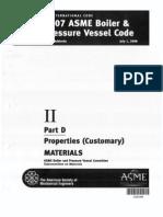 ASME II Part D Properties Customary MATERIALS 2008a Addenda