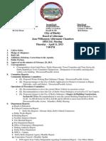 Derby Aldermen Agenda April 11