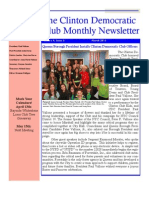 Clinton Democratic Club March 2013 Newsletter