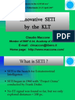Innovative SETI by the KLT_Claudio Maccone