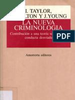 40083448 La Nueva Criminologia I Taylor P Walton J Young