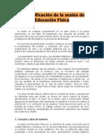 2. LA PLANIFICACIÓN DE LA SESIÓN DE EDUCACIÓN FÍSICA