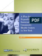 Plan for Expanding Sustainable Community Health Centers Ny April 2013