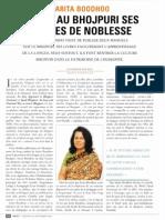 Sarita Bhoodhoo donne au Bhojpuri ses lettres de noblesse