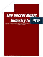Music Industry Contact List