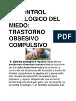 EL CONTROL PATOLÓGICO DEL MIEDO