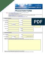 Application Form MTP 2013 External