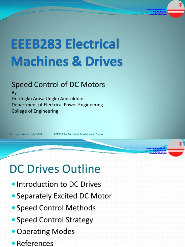 Speed Control of DC Motors | Electromagnetism | Electrical Engineering