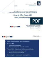 instituto nacional de estatística 2013_literacia estatística ao serviço da cidadania, portal do ine e projecto alea - uma primeira abordagem