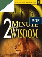 2 Minute Wisdom Vol 1
