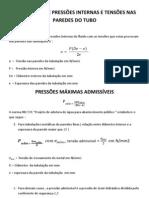22-RELAÇÃO ENTRE PRESSÕES INTERNAS E TENSÕES NAS PAREDES DO TUBO - Cópia