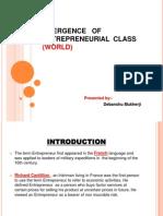 Emergence of Entrepreneurial Class World