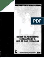 GENESIS DEL PENSAMIENTO MATEMATICO EN EL NIÑO DE EDAD PREESCOLAR. AB