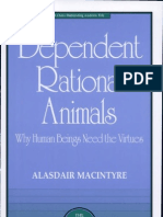 "Alasdair MacIntyre,  ""Dependent Rational Animals"""