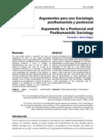 Argumentos para una Sociología Poshumanista postsocial - Garcia Selgas, Fernándo