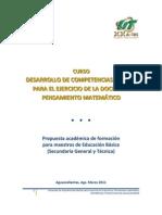 Desarrollo de competencias básicas para el ejercicio de la docencia. Pensamiento matemático