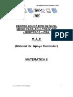 Material de Apoyo Curricular MATEMÁTICA II CENMA Nº 195 2013