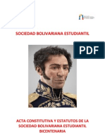 Acta Constitutiva de Las Soc Bolivarianas