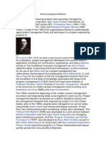 Project Management History