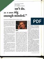 Margaret Thatcher, Forbes 1992
