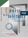 Genese de La Tolerance de Platon a Benja - Denkova_ Lidia