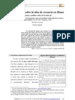 CENTENO, S.- Reflexiones Sobre La Idea de Creencia en Hume