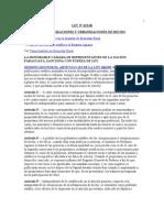 Ley 622 Del 60 Colonizaciones y Urbanizaciones