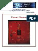 The Working Tools Magazine Esoteric Freemasonry Edition