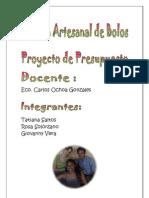 Proyecto Presupuesto Fabrica Artesanal Bolos