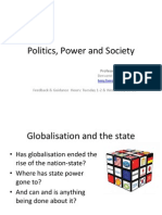 Lecture 28 Globalisation and the Nation-state