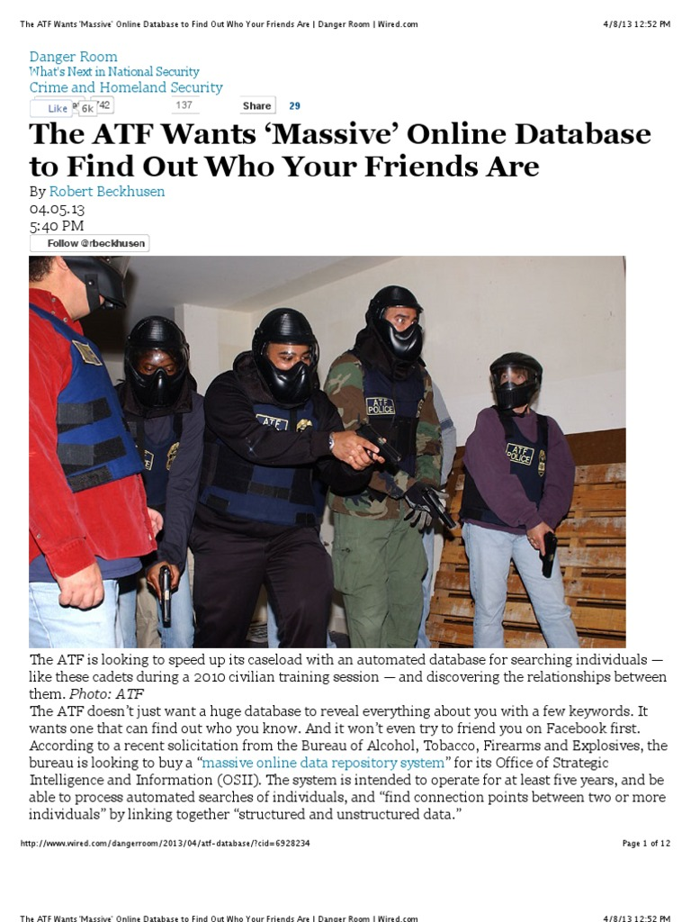 """Preview of """"The ATF Wants \'Massive\' Online Database to Find Out Who ..."""