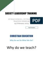 Sunday School & OT Teachers