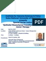 De 04.10.2013 Presenter Poster Special Series Lecture
