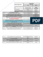 Programa de Capacitacion Mes de Abril de 2013