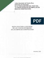 Nueva Guia Para La Revision de Los Estimados de Costo de Obras de Construccion 2008