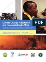 Climate Change and Peacebuilding in Africa