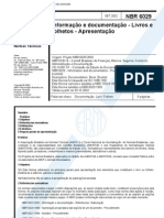 NBR 6029 - Informacao e Documentacao - Livros e Folhetos - Apresentacao