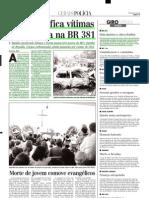 2001.01.22 - PRF identifica vítimas da tragédia na BR 381 - Estado de Minas