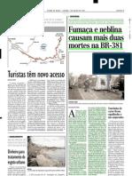 2001.07.07 - Fumaça e neblina causam mais duas mortes na BR-381 - Estado de Minas