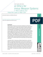 Law and Ethics for Autonomous Weapon Systems