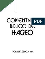 COMENTARIO BÍBLICO DE HAGEO