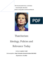 Thatcherism - Ideology, Policies and Relevance Today