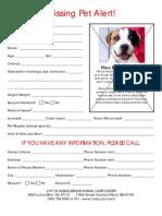 Missing Pet Alert