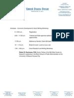 Economic Workshop Schedule