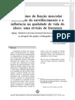 DECRÉSCIMO DA FUNÇÃO MUSCULAR DECORRENTE DO ENVELHECIMENTO E A INFLUÊNCIA NA QUALIDADE DE VIDA