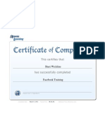 certificate report facebooktraining wickline