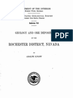 GEOLOGY AND ORE DEPOSITS OF  THE ROCHESTER  DISTRICT,  NEVADA