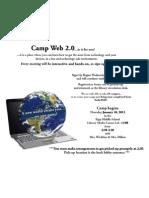 camp web 2 0 flyer