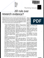Ritual Over Best Practice Evidence