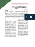 5 Faraha Nawaz Nexus Between Women Entrepreneurship Development and Empowerment Bangladesh Context